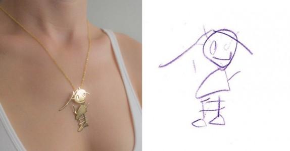 To kunstneriske mødre lager unike smykker av dine barns tegninger. Så flotte de blir!
