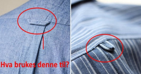 Har du noengang lagt merke til den lille sløyfen på baksiden av skjorten din? Den er ikke til for hva du tror den er!