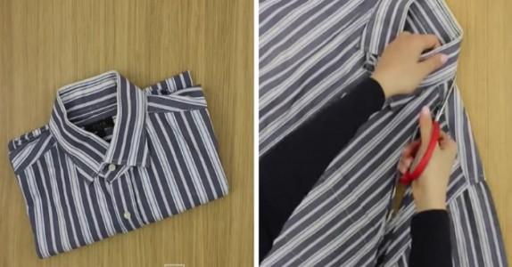 Har du en gammel skjorte liggende? Ikke kast den, sjekk dette GENIALE tipset først!