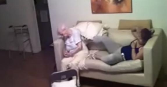 Datteren installerte et skjult kamera. SE hva pleieren gjorde mot moren hennes som lider av Alzheimers!
