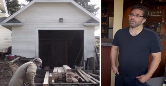 Martin pusser opp den falleferdige garasjen – etter en liten titt skjønner jeg hvorfor svigermoren flyttet inn!