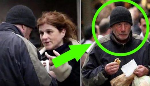 Hun gir en hjemløs mann et stykke pizza. Men når hun ser HVEM det er, får hun sjokk!
