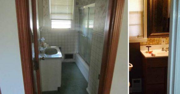 Han bruker flere dager på å flislegge badet. Når han endelig blir ferdig, er det klart: Arbeidet var IKKE forgjeves!