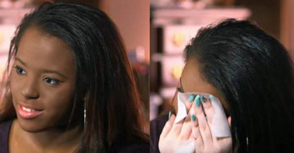 Hun gjemte ansiktet sitt under sminken i 7 år. Men SE når hun avslører hva som skjuler seg bak – på TV!