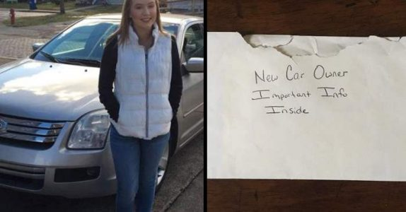Han finner et brev i hanskerommet på datterens bil. Når han leser teksten, får han hjertet i halsen!