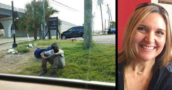 Den hjemløse mannen satt på samme plass i 3 år. Men så stopper en nysgjerrig mor og spør HVORFOR!