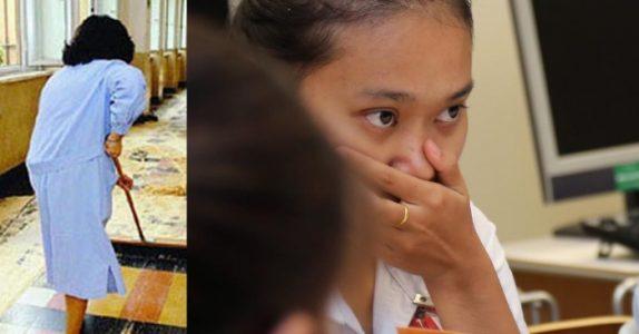 Elevene ser henne som «bare» en vaskedame. Men det læreren gjør da får ALLE til å tenke!