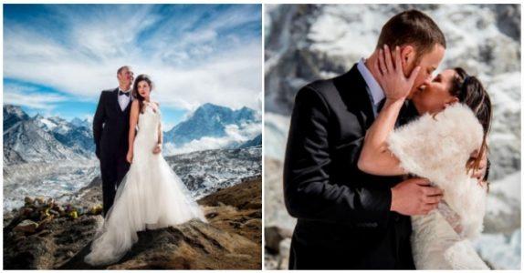 Dette paret giftet seg på et veldig spesielt sted. Og bildene fra bryllupet er mildt sagt utrolige!