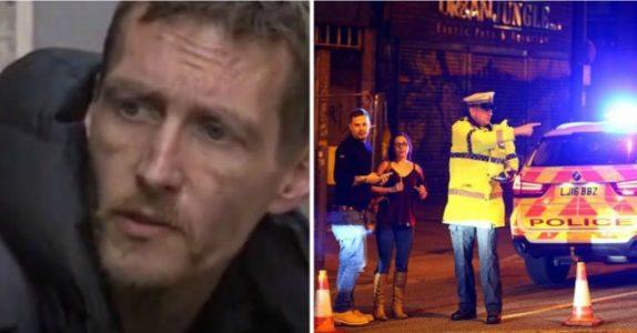 Den hjemløse mannen ble vitne til bombingen i Manchester. Så gjorde han det ingen andre våget!
