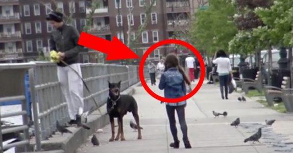 Den fremmede mannen ser 8-åringen og gjør det utenkelige. Men det skjulte kameraet fanger alt på film!