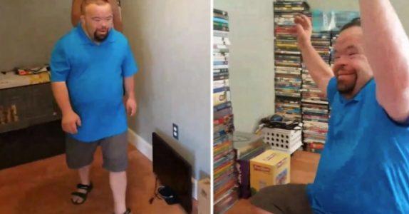Mannen med Down syndrom mistet alt i en husbrann. Da får han en overraskelse fra 500 fremmede!