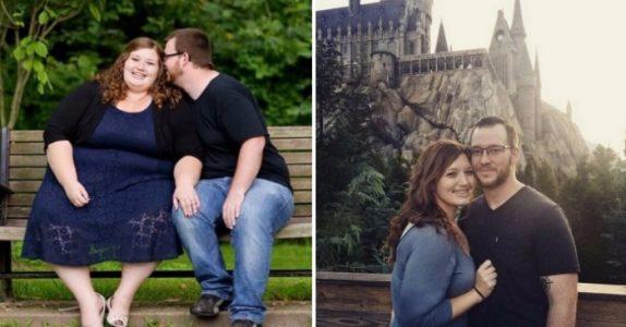 Takket være 2 enkle triks, gikk dette paret ned 140 kilo på 1 år. Se den utrolige forvandlingen!