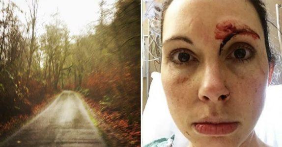 Monsteret overfaller kvinnen som jogger gjennom skogen. Så innser han at det var en STOR feiltagelse!