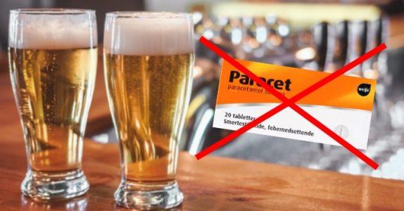 Ny forskning viser: 2 store øl fungerer bedre mot bakrus enn Paracet!