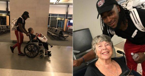 Den ukjente mannen hjelper den 82-år gamle bestemoren. Så skjønner hun HVEM han er!