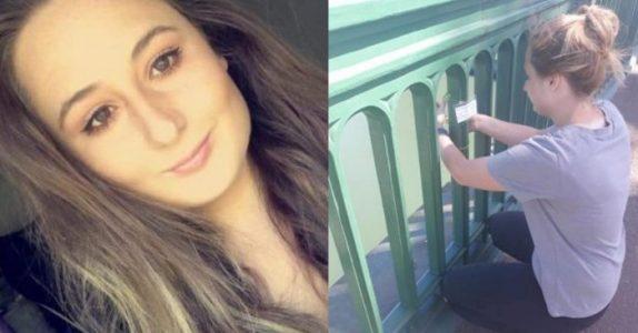 Den unge kvinnen har reddet 6 personer fra å ta selvmord. Med en veldig enkel og effektiv metode!