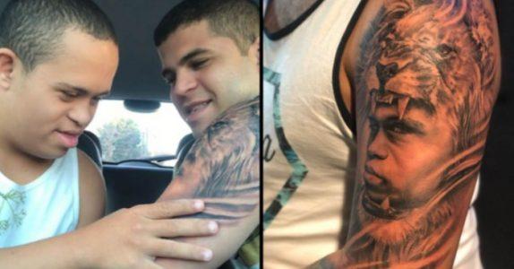 Han tatoverte et bilde av lillebroren sin på armen. Men SE hvordan han reagerer når han får se det!
