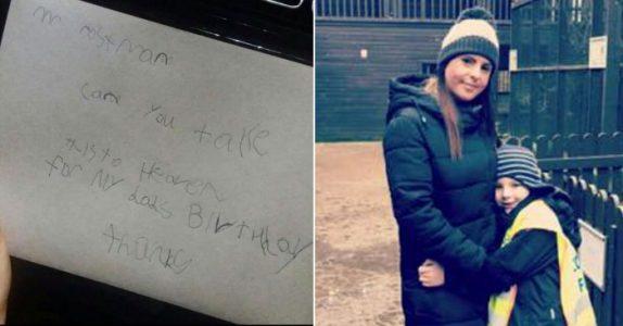 7-åringen skriver et brev til faren i himmelen. Nå rører postmannens svar tusenvis til tårer!