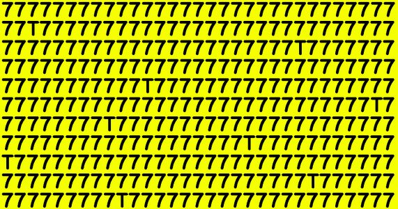 Flertallet klarer ikke denne testen! Hvor mange T-er ser du på bildet?
