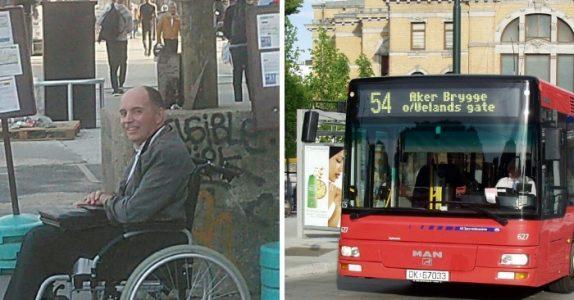 Ingen på bussen vil gjøre plass til rullestolbrukeren. Da gir sjåføren de en lærepenge de sent vil glemme!