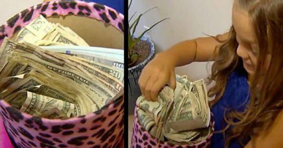 7-åringen kommer hjem med sekken full av penger. Gir moren sjokk når hun sier hvor hun fikk de fra!