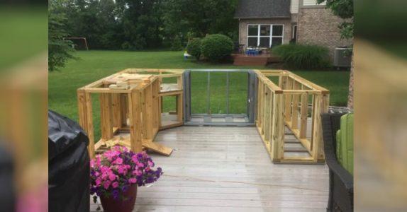 Naboen setter opp et merkelig byggverk i hagen. Men når det er ferdig blir hele nabolaget imponert!